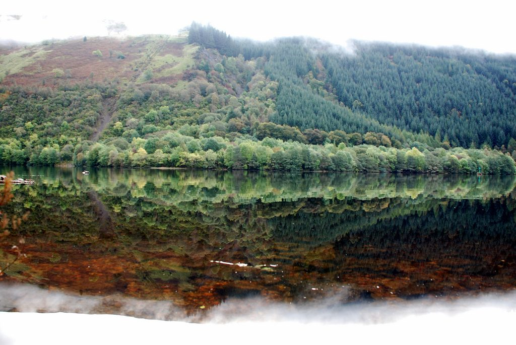 Great Glen Way: forest and reflection. You: the one you know and the one inside.