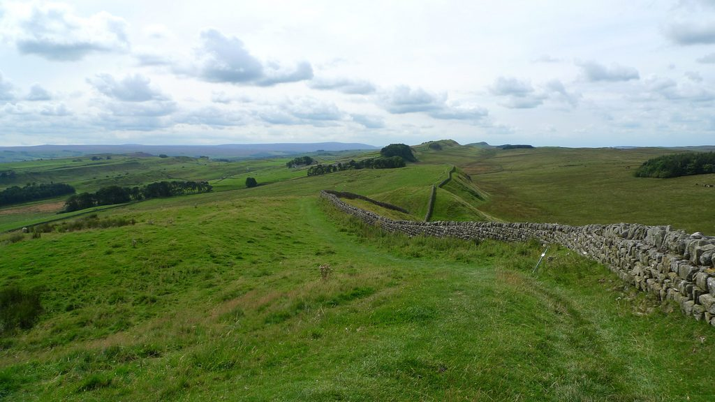 Hadrian's Wall was started being built in 122AD.