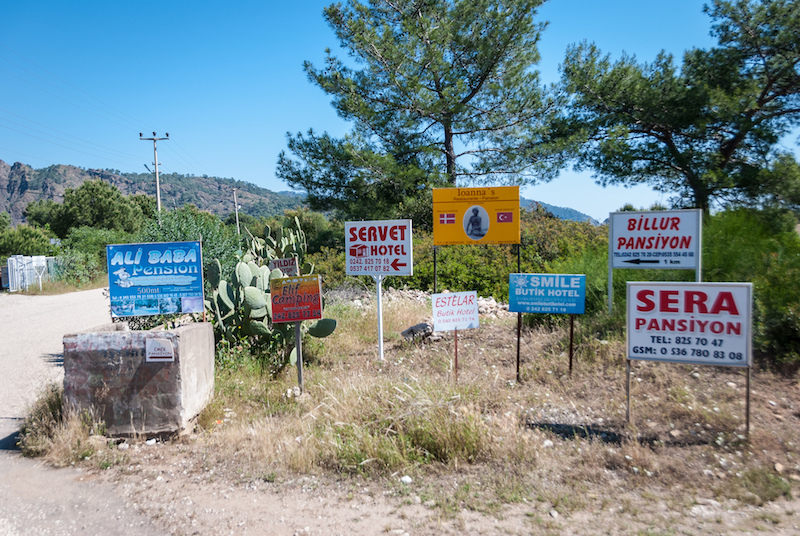 Signage at Çıralı, April 2013  -  Photo by Stijn Nieuwendijk