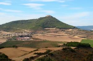 Camino Francés - Castle of Villamayor de Monjardín seen from a distance