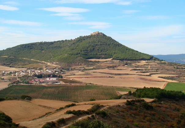 Camino Francés - Castle of Villamayor de Monjardín seen from a distance