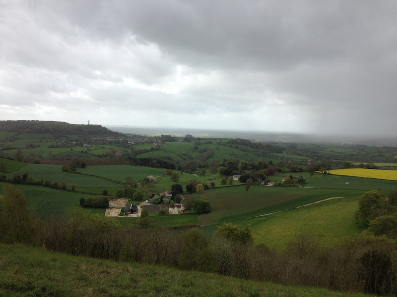 View from between Dursley & Hawkesbury Upton