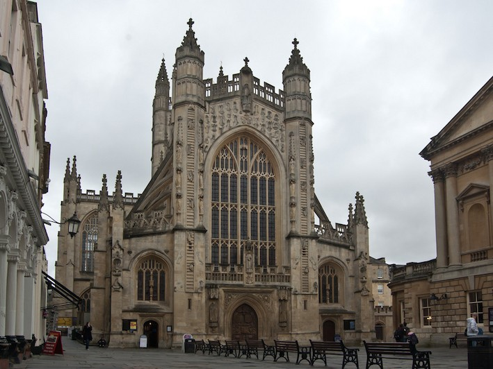 Bath Abbey - southern terminus of the Cotswold Way