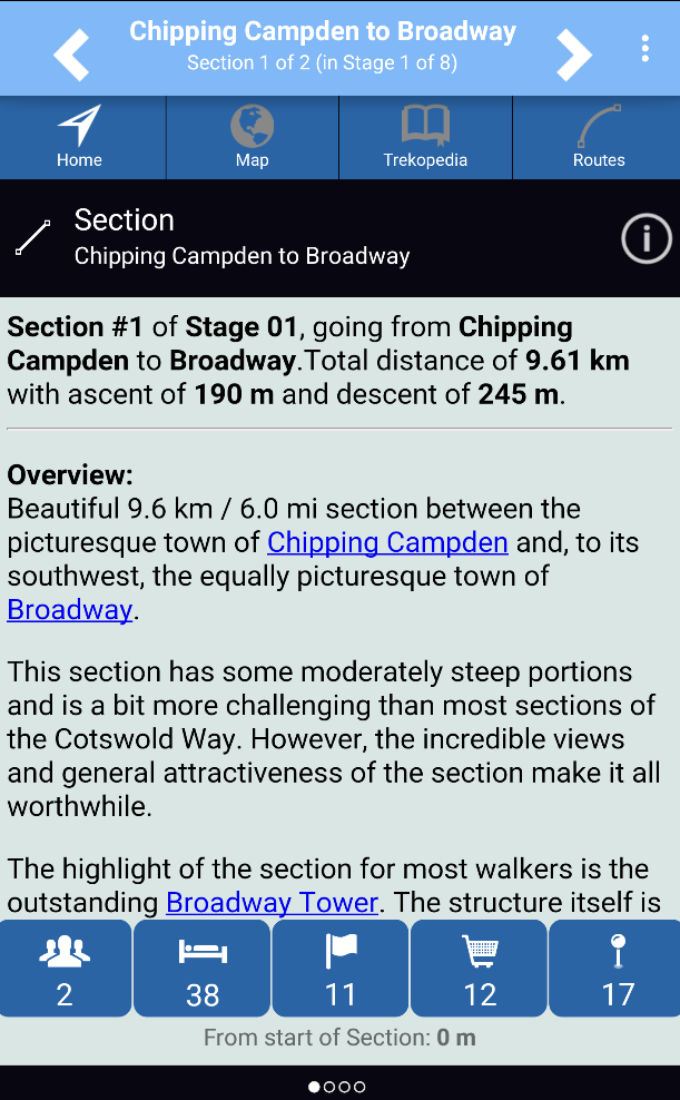 Cotswold Way Home Screen