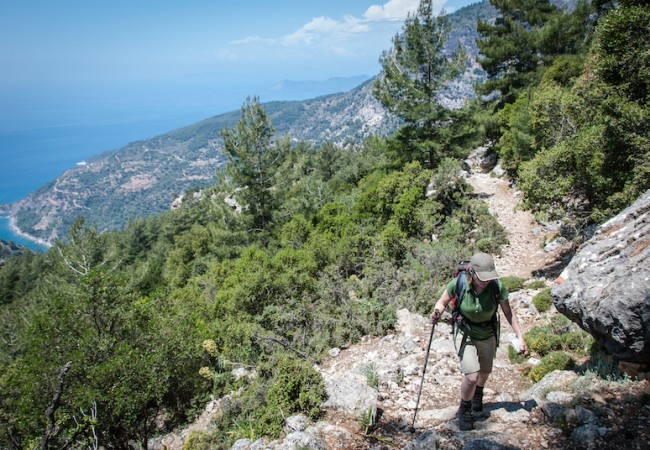 Lycian Way - Climbing to Alınca