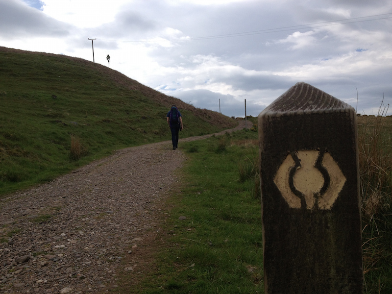 Trail marker on the West Highland Way
