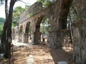 Lycian Way - Aqueduct at Phaselis