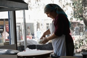 Lycian Way - Delicious gözleme (Turkish pancakes) being prepared in Kaş (yummy!)