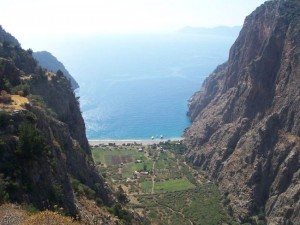 Lycian Way - Great view of Butterfly Valley from Faralya