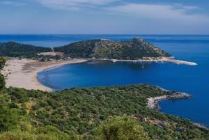 Lycian Way - Looking down on Çayağzı