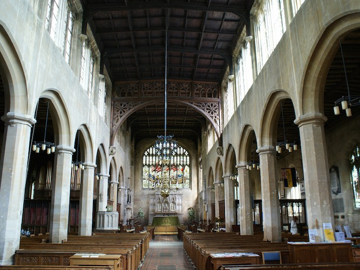 Interior of St. Peter's Church, Winchcombe