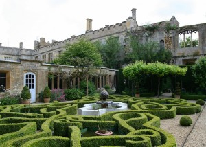 Gardens at Sudeley Castle, near Winchcombe
