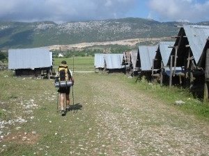 Lycian Way - Passing grain houses on the outskirts of Bezirgan