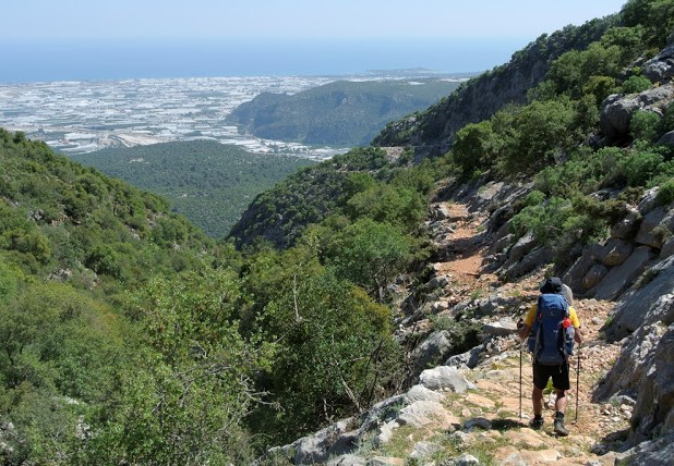Lycian Way - Descending from Belören towards Demre