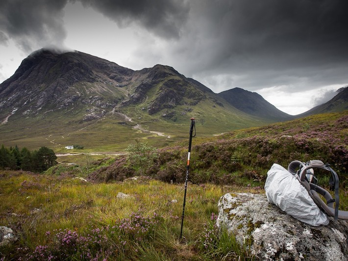 Scenic rest break on the West Highland Way